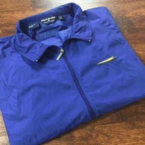 POLO RALPH LAUREN Sport Full Zip Up Blue Nylon